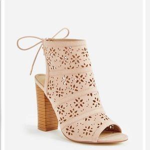 Flower Power Perforated Heeled Sandal